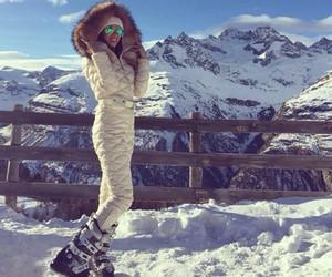 girl, ski, and winter image