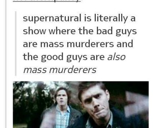 dean, good and bad, and Sam image
