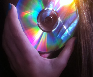 cd, colors, and dark image