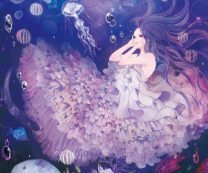 anime, anime girl, and ocean image