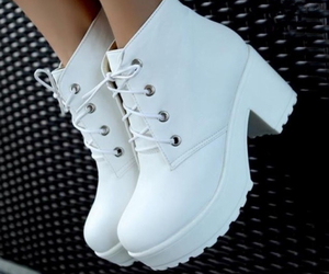 boots, white, and girl image