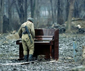 nature, piano, and police image