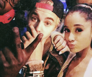 couple, justin bieber, and ariana grande image