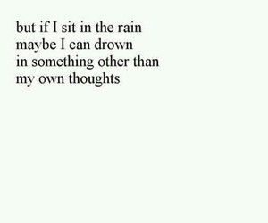 rain, quote, and sad image