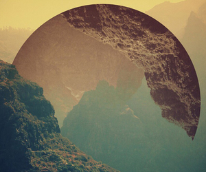 mountains, moon, and hipster image