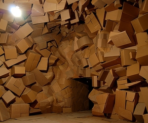 boxes, installation, and sculpture image