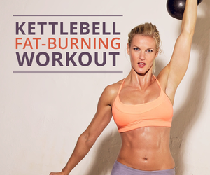 fat loss, kettlebell workout, and fat burning workout image