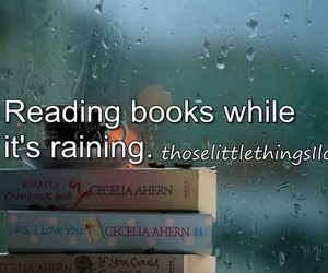 book, rain, and reading image