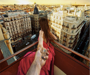 couple, travel, and dress image