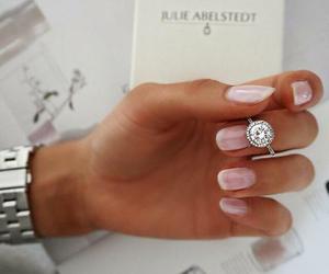 nails, ring, and diamond image