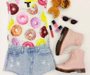 outfit, donuts, and boots image