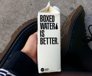 black and white, boxed water, and creeper image