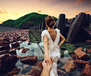 couple, dress, and travel image