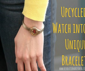 jewelry designs, diy recycled watch, and repurpose watch ideas image