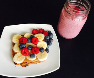banana, blueberry, and breakfast image