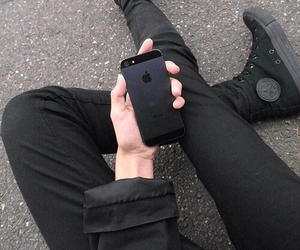 black, iphone, and grunge image