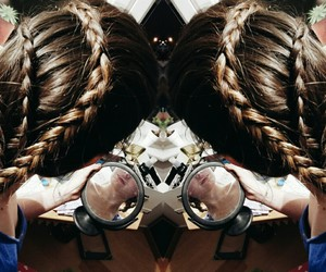 braids, brown hair, and girl image