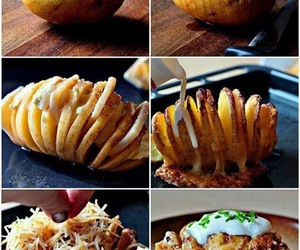 food, potato, and cheese image