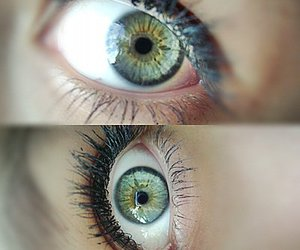 eyes, girl, and heart image