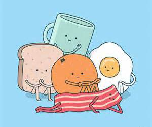 food, breakfast, and funny image