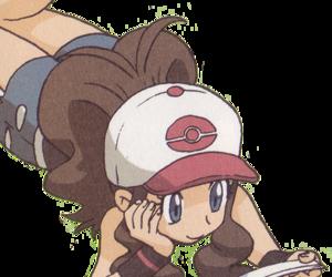anime, girl, and pokeball image