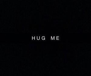 hug, quotes, and black image