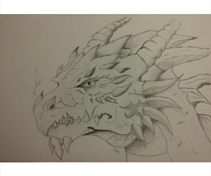 black and white, drago, and dragon image