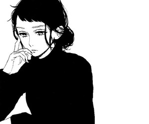monochrome, hirunaka no ryuusei, and girl image