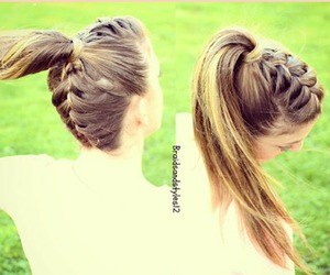 braid, hairstyle, and ponytail image