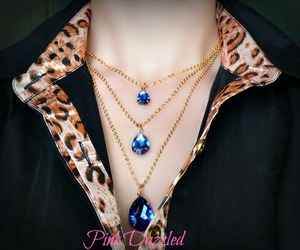 jewelry, necklace, and layered necklace image