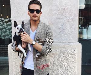 dog, men, and style image