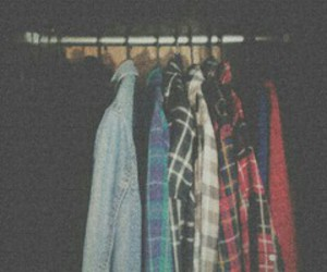 closet, flannel, and grunge image