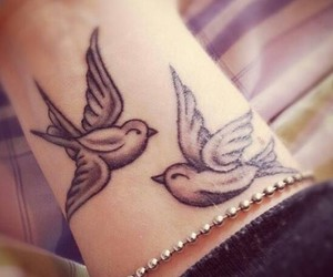 birds, tattoo, and pigeons image