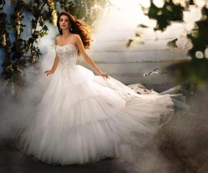 beautiful, cinderella, and wedding dress image