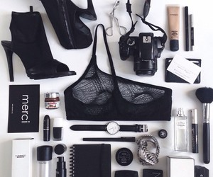 black, makeup, and fashion image