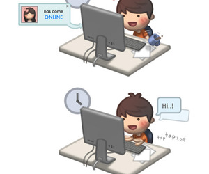 boy, online, and love image