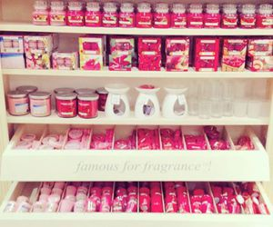 candle, pink, and yankee image