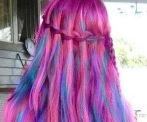 hair, blue, and colorful image