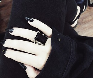 Darkness, hands, and nails image