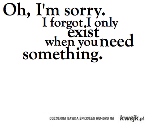 quote, sorry, and sad image