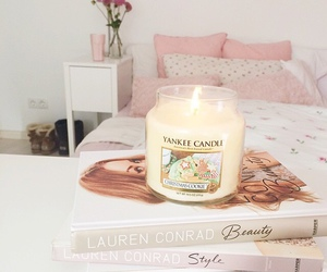 room, yankee candle, and pink image