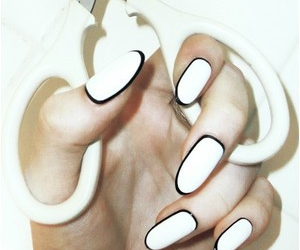 black, nails, and scissors image