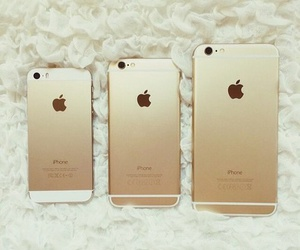 gold, iphone, and must have image