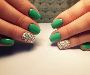 emerald, green, and manicure image