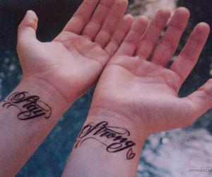 stay strong, demi lovato, and tattoo image
