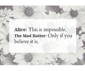 impossible, possible, and mad hatter image