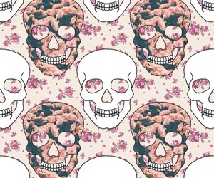 background, bones, and flowers image