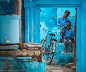 blue, india, and kids image