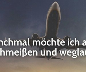 flugzeug, quote, and travel image