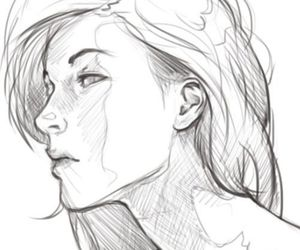 girl, art, and sketch image